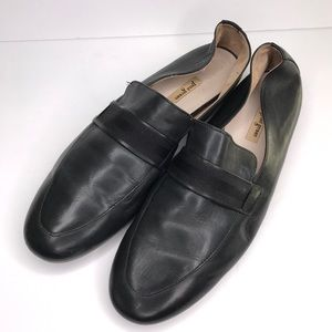 PAUL GREEN Black Soft Leather Loafer Flat Size 7.5